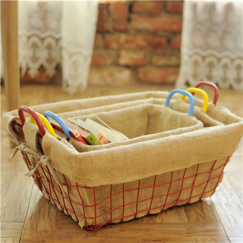 colored wire basket