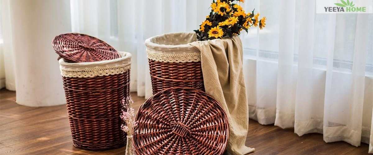 """wicker storage baskets"""