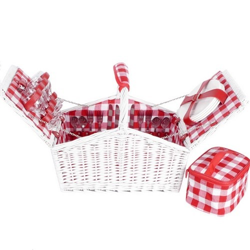 """white picnic basket"""